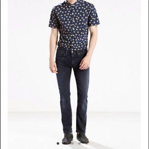 Levi's Mens Black 511 Slim Jeans